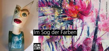 Im Sog der Farben, Keramikobjekte und Aquarelle in der Galerie 62