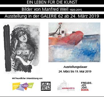 Ausstellung Manfred Weil in der Galerie 62